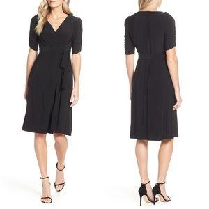 Eliza J Ruch Sleeve Faux Wrap Dress